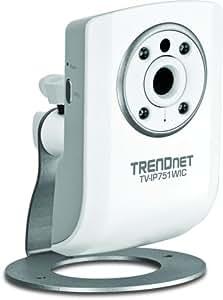 Trendnet Wireless Cloud-Kamera TV-IP751WIC für Tag- und Nachtaufnahme weiß