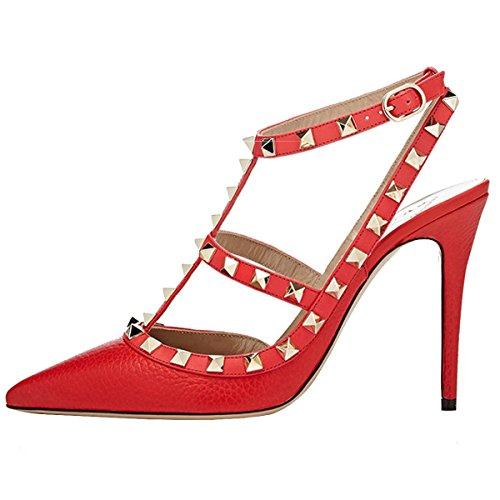 EKS - Scarpe con Tacco Donna Rosso