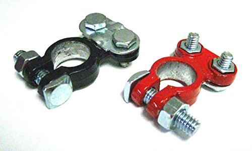 Schnelle Kabel Akku Top Post Universal Blei Legierung Material Akku Terminal-Schwarz und Rot Epoxy -