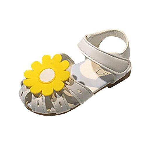 Sonnenblume Sandalen Kleinkind,❤️Absolute Baby Mädchen Prinzessin Schuhe Freizeitschuhe 2018 Sommer Neue Strand Schuhe Lässig Slipper Rutschfeste Einzelne Schuhe für 1-6 Jahr (2.5-3 Jahr, Weiß) (Sonnenblume Produkte)