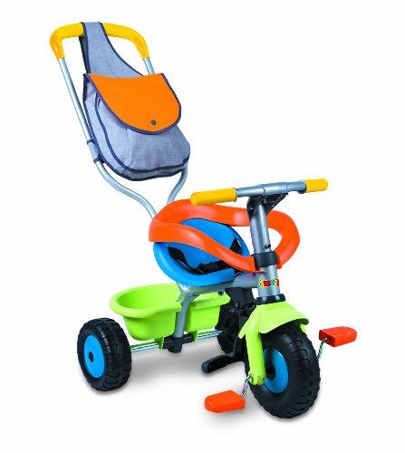 Smoby - Triciclo Con Palo Bolso Protector Y Cinturones 80-444157