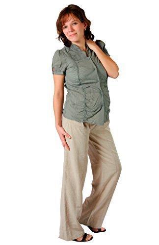 Christoff leinenhose figura femminile umstandsmode marlene-Pantaloni da donna, taglio largo delle gambe) 704% 2Fcomfort 85, taglia Beige