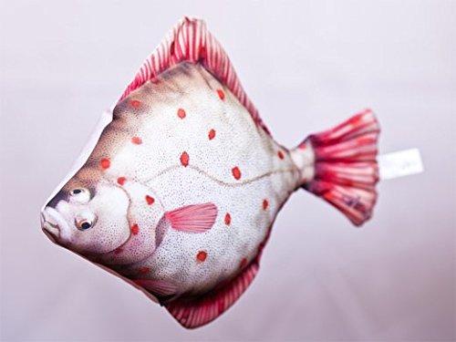 GABY Fish Pillows Flunder Kissen, Polyester, Mehrfarbig, Medium