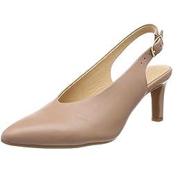 Clarks Calla Violet, Zapatos de Talón Abierto para Mujer, (Beige Leather), 40 EU