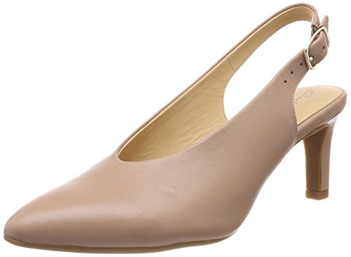 Clarks Damen Calla Violet Slingback Pumps, Beige (Beige Leather), 38 EU