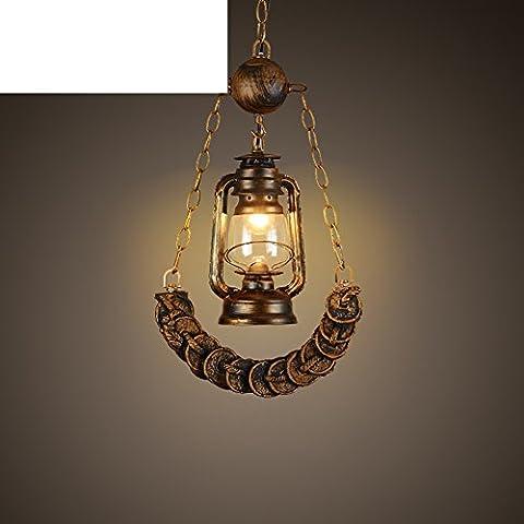 Lampadario lanterna di villaggio/Personalità creativa vino moneta di rame a sospensione-A