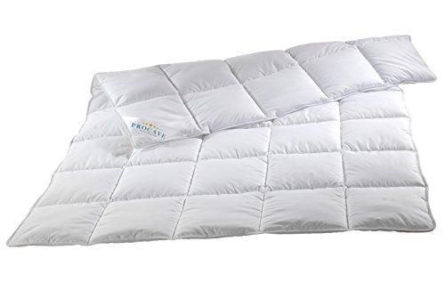 PROCAVE MICRO-COMFORT Qualitäts-Bettdecke für den Sommer | Entspannt schlafen auf hochwertiger Microfaser aus 100 % Polyester | Atmungsaktive Steppdecke in weiß in 155x200 cm | Soft-Komfort Bettdecken aus Hohl-Faser
