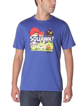 Angry Birds - T-Shirt - Droit - Fantaisie - Homme - Bleu - S