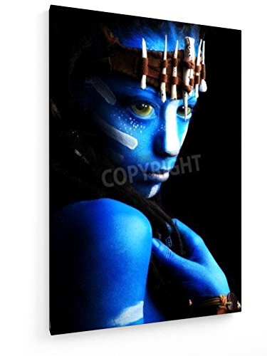Fantasie - 50x75 cm - Textil-Leinwandbild auf Keilrahmen - Wand-Bild - Kunst, Gemälde, Foto, Bild auf Leinwand - (Avatar Kostüme Home)