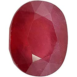 Gemorio Natural Ruby Manak 9.25 to 9.5 RATTI Certified Astrological Loose Gemstone As Shown in Image