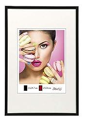 Photo Style Bilderrahmen in 20x30 cm bis 50x70 cm DIN Format Bilder Foto Rahmen: Farbe: Schwarz | Format: 50x70