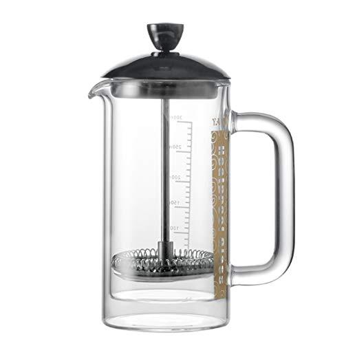 Cafetière française, Pot de Filtre Yami, Doublure en Acier Inoxydable, Double vitrage, Dispositif de traite, théière, Pot de Pression