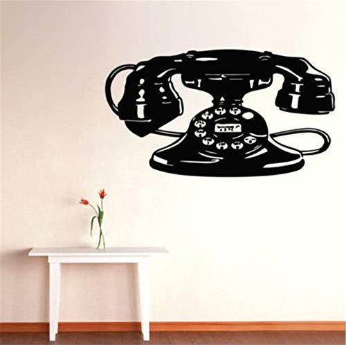 nyl Aufkleber Aufkleber Kunst Wandbilder Home Decor Retro Telefon Design 55X88Cm ()