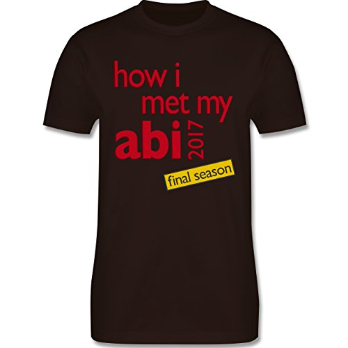 Abi & Abschluss - How I met my Abi 2017 - Herren Premium T-Shirt Braun
