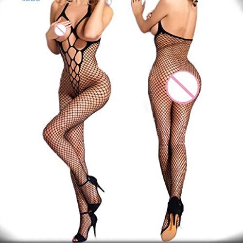RRFFVV Frauen Sexy Dessous Netzstrumpf Body Mit Öffnung BH Aushöhlen Babydoll Erotische Unterwäsche Porno ()