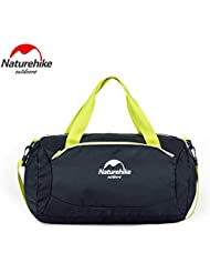 Naturehike Bolsa de deporte humedo y seco Bolsa de viaje Campo Piscina bolsa de almacenamiento De lona resistente al agua(Black)