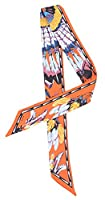 Bigood Colorful Contrast Color Plume Floral Bag Silk Ribbon Twilly Hairband #E
