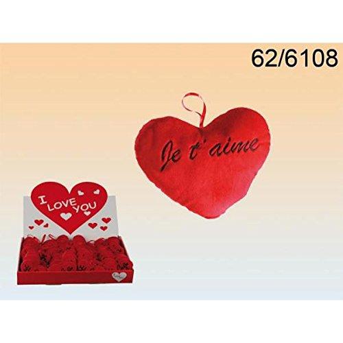 """Mini peluche en forme de coeur """"je t'aime""""- cadeau d'amoureux pour la saint valentin"""