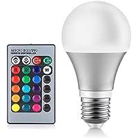 Wildlead 3/5 / 10W RGB 7 colori che cambiano le lampadine del LED E27 luce di alluminio con telecomando 270 lampada a fascio d'apertura per bar di casa bar