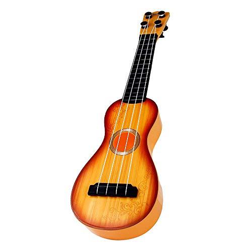 HAMKAW Petit Guitare Inspire l'Intelligence, Ukulélé Classique Inspirez Le Talent Musical d'enfant, Jouet Instrument de Musique Simulé Ukulélé pour Enfants/Débuta