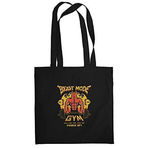 Texlab–Beast Mode Gym–sacchetto di stoffa Nero
