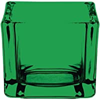 6x Olympia Cristal Portavelas cuadrado verde Pilar Vela restaurante