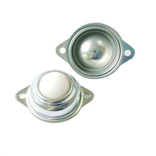Set von 8 Stück 2 Löcher 1,6 cm Nylon Kugellager 360 Grad Drehung Einheit Tisch-Förderrolle Rolle für Getriebe Möbel Rollen Traglast 22lbs (Getriebe-einheit)