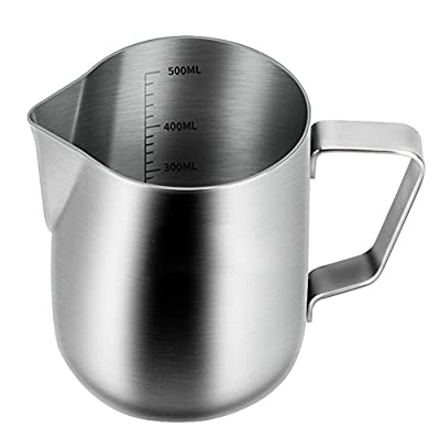 Milk Pitcher,Stainless Steel Milk Cup Milk Frothing Pitcher Milk Jug