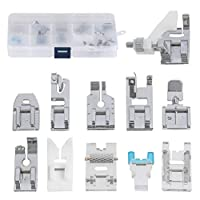 FOCCTS 11 Pcs Presser Feet Set Domestic Sewing Foot, Sewing Machine Foot Presser with a Presser Feet Storage Case
