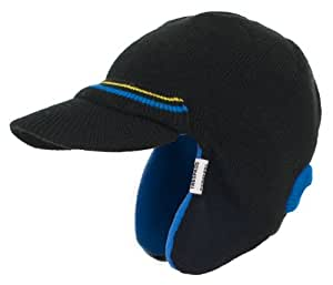 Trespass Boy's Beanie Hat with Visor for black black - black Size:Age 5-7