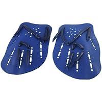 TOOGOO(R)2pzs Azul Paletas de mano palmeada de natacion nadar de plastico