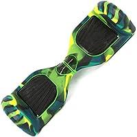 ZZM - Funda Protectora de Silicona para Patinete Hover Skate Board Hoverboard DE 6,5 Pulgadas, Army Green