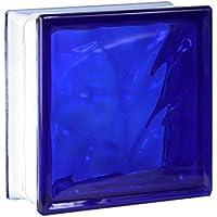 5 piezas FUCHS bloques de vidrio nube azul 19x19x8 cm