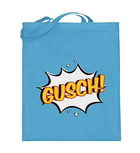 SwayShirt Gusch Lustiges Wiener Schmäh Dialekt Bayern Wien Österreich Mundart Jugendwort T-shirt - Jutebeutel (mit langen Henkeln) -38cm-42cm-Hellblau