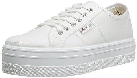 Victoria Basket Lona Plataf., Sneakers Basses mixte adulte, Blanc (20