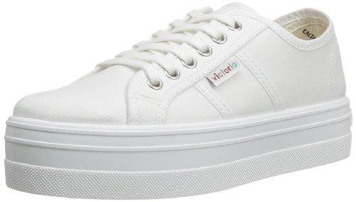 Victoria - Basket Lona Plataf., Sneakers unisex, color Bianco (Bianco), talla 36