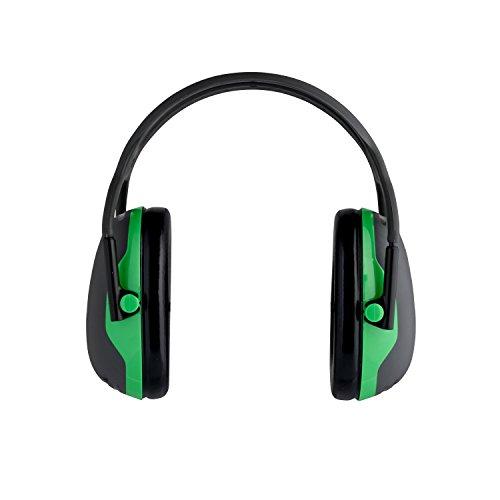 3M Peltor Kapselgehörschutz X1A, Kopfbügel,  SNR = 27 dB, schwarz/grün