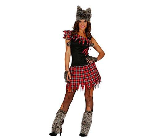 Wölfin Kostüm für Damen Gr XS/S-M, Größe:XS-S