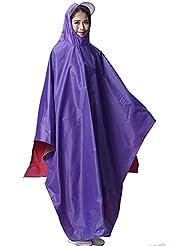Chubasquero unisexo, KENO chubasquero mujer/chubasquero hombre, poncho de lluvia impermeable/chubasquero bicicleta, adecuado para persona que mide 165-185cm - color púrpura