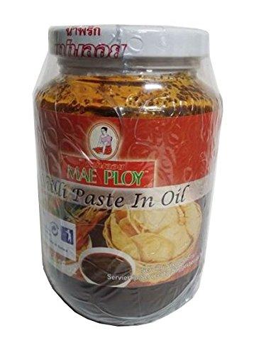 Thai- น้ำพริก Chili Paste in Öl ohne Zusätze Thai- Mae Ploy (Best Quality)454 G