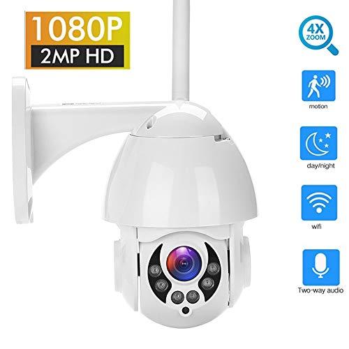 Camera WiFi Outdoor Ptz Ip Camera 1080P Speed Dome CCTV Security Camera Ip Camera WiFi External 2Mp Ir Home Watch 1080P 12V2A 32Gb -