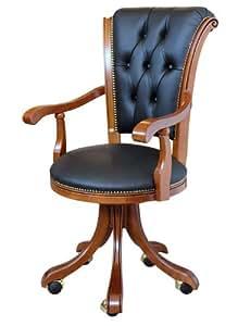 Sedia poltrona per ufficio classica casa e cucina for Amazon sedie ufficio