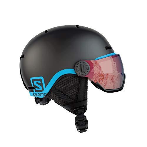 Salomon Kinder Grom Visor Ski- und Snowboardhelm, mit Visier, In-Mold-Schale und EPS-Innenschale,...