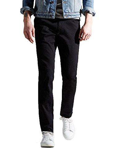 Jack & Jones-Maglietta originale Tim Slim Tapered Fit Denim Jeans Nero Black (006) W36