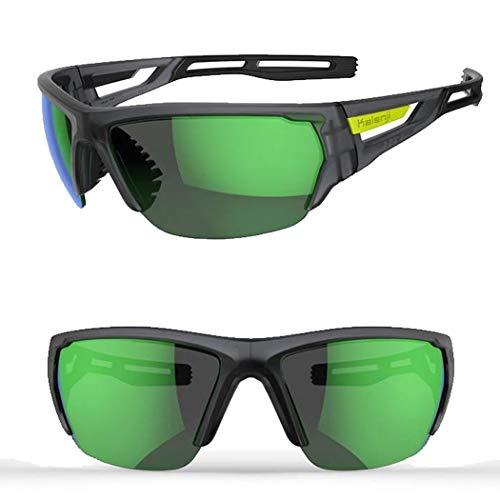 HONGNA Sonnenbrillen Laufen Sport Sonnenbrillen Männer Und Frauen Professionelle Outdoor Sonnenbrillen Anti-Skid Langlauf Marathon Brille (Farbe : Blau)