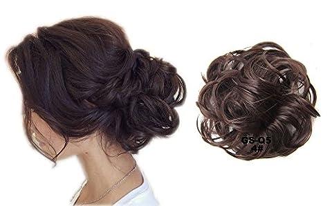 ShowPower Haargummi Haar/Haarteil für Haarknoten/Pferdeschwanz Hair Extensions gewellt Messy Hair