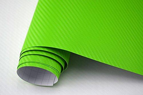 3,29€/m² Auto Folie - 3D Carbon Folie - GRÜN - 100 x 150 cm - Meterware blasenfrei mit Luftkanälen NEOXXIM PREMIUM
