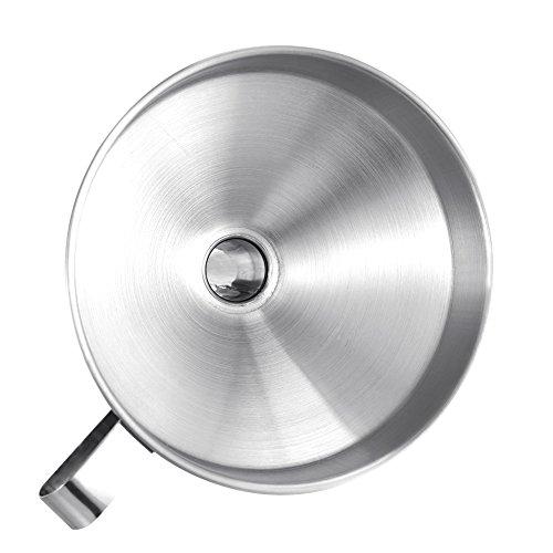 Edelstahl Trichter mit abnehmbarem Sieb Filter für Küche Kochen ätherischen Ölen und flask-filling Vorratsdosen F:24cm - 5