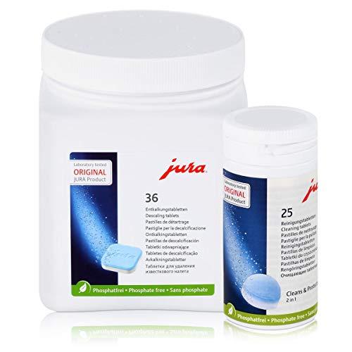 Jura 62535 + 70751 Kombi-Pack, 25 Reinigungstabletten + 36 Entkalkungstabletten