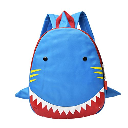 mochilas escolares juveniles niña Switchali baratas bolsas escolares linda Tiburón Patrón Animales Mochila escolares niño mochilas mujer casual Mochila bolsas deporte viaje bolsos (Azul claro)